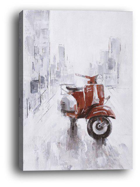 Framed Canvas Background Wall Still Life Decorative Painting Motorcycle Print - multicolor 16 X 24 INCH (40CM X 60CM)