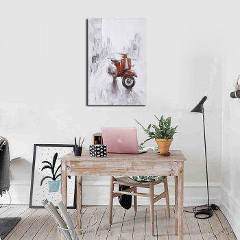 Framed Canvas Background Wall Still Life Decorative Painting Motorcycle Print - multicolor 12 X 16 INCH (30CM X 40CM)