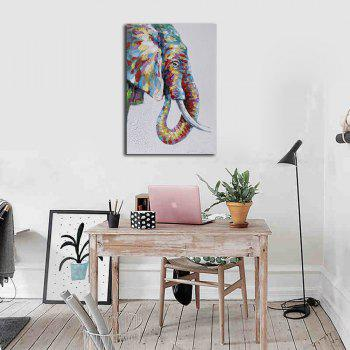 Framed Canvas Modern Bedroom Background Wall Abstract Elephant Nose Print - multicolor 16 X 24 INCH (40CM X 60CM)