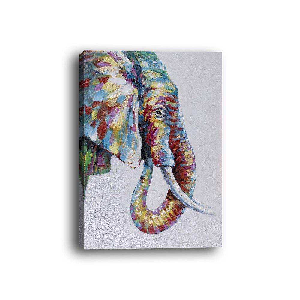 Framed Canvas Modern Bedroom Background Wall Abstract Elephant Nose Print - multicolor 12 X 16 INCH (30CM X 40CM)