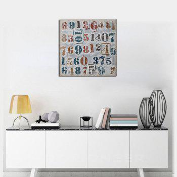 Framed Canvas Modern Living Room Background Wall Abstract Digital Print - multicolor 8 X 8 INCH (20CM X 20CM)