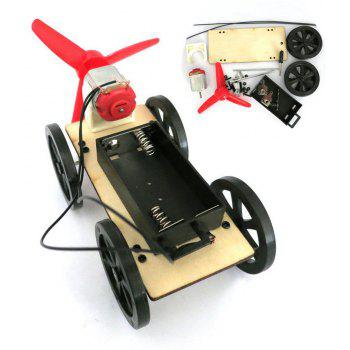 DIY Car Mini Wind Powered Toy for Kids Puzzle Educational Learning Toy - RED
