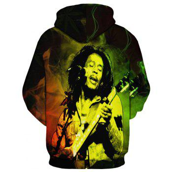 Fashion Winter New D-Play Pipa Printing Men's Hoodie - multicolor S