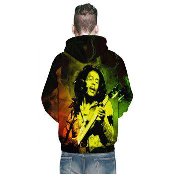 Fashion Winter New D-Play Pipa Printing Men's Hoodie - multicolor L
