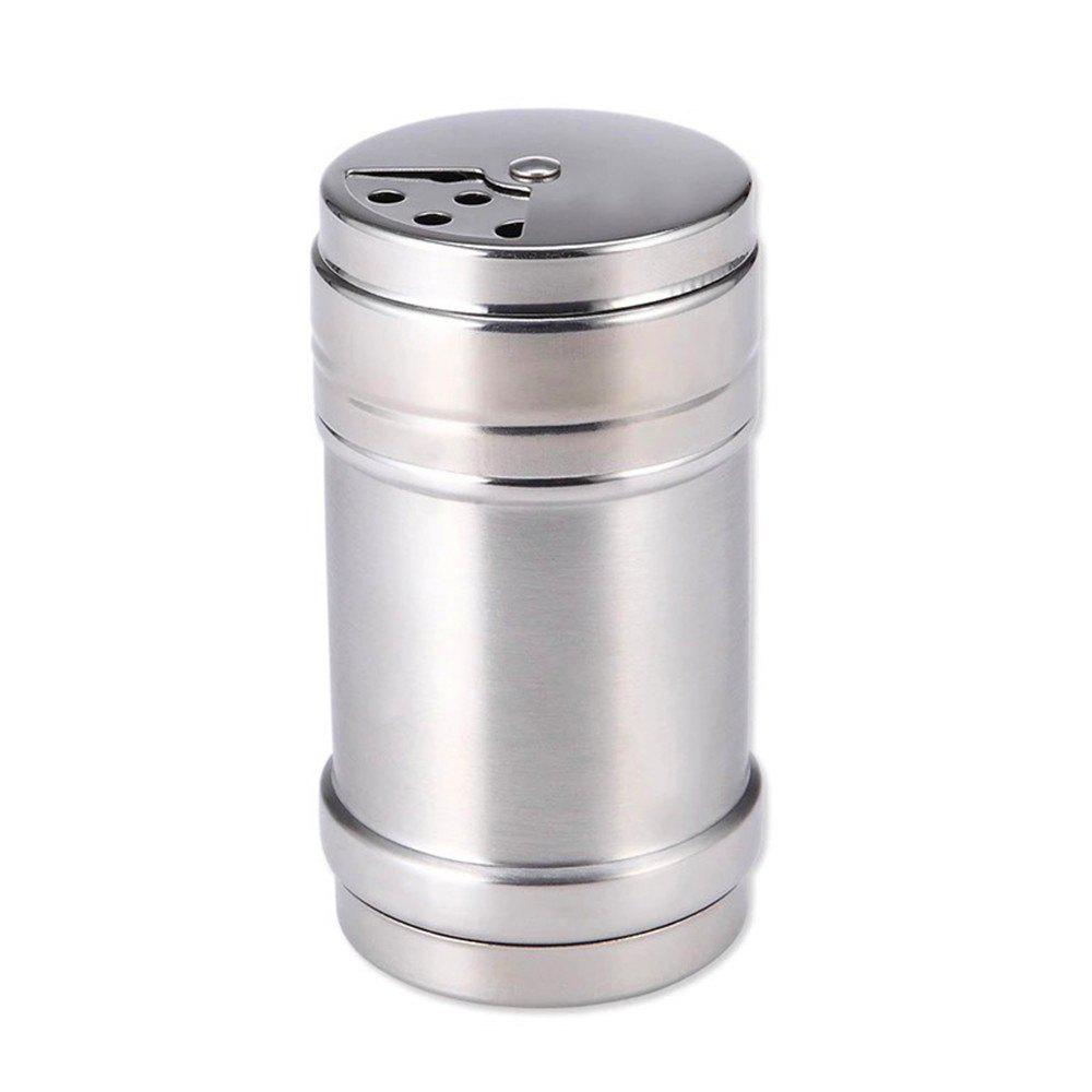 Stainless Steel Barbecue Sauce Spice Jar Seasoning Box Condiment Bottles - SILVER