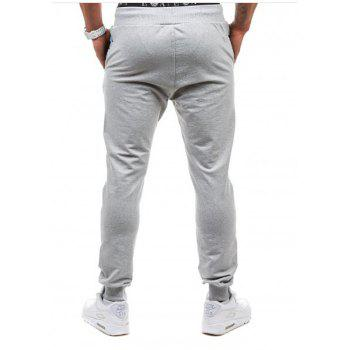 Men's Casual Fashion Camo Stitching Design Pants - LIGHT GRAY L