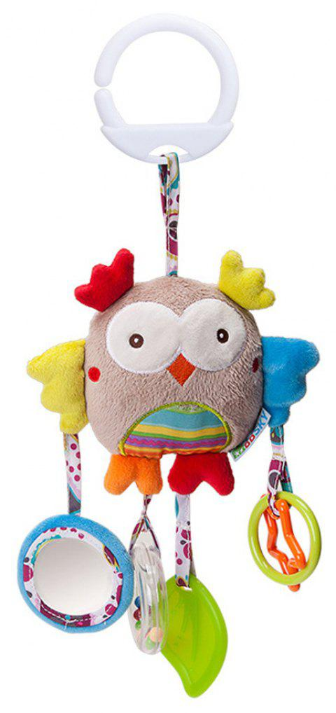 Infant Stroller Washable Kids Hanging Toy for Crib with Rattle Ring - multicolor A
