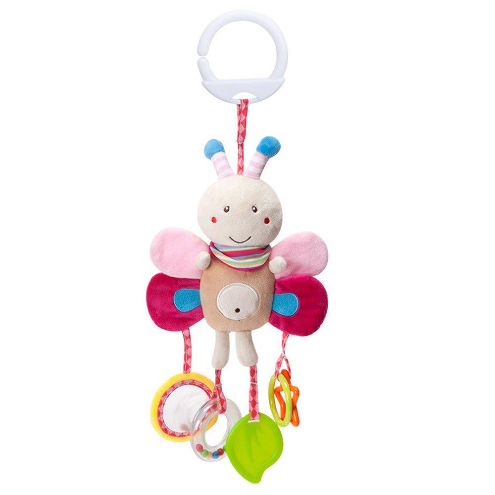 Infant Stroller Washable Kids Hanging Toy for Crib with Rattle Ring - multicolor B