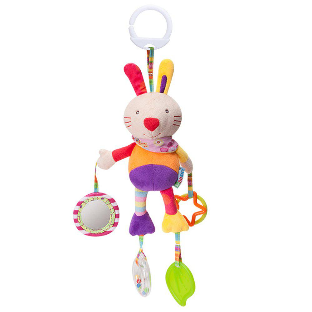 Infant Stroller Washable Kids Hanging Toy for Crib with Rattle Ring - multicolor C