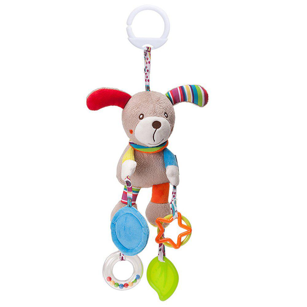 Infant Stroller Washable Kids Hanging Toy for Crib with Rattle Ring - multicolor E