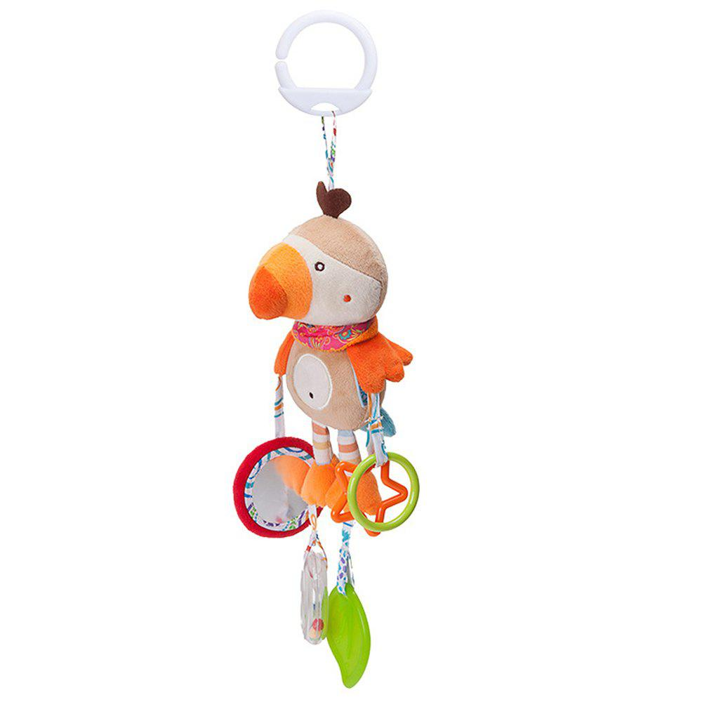 Infant Stroller Washable Kids Hanging Toy for Crib with Rattle Ring - multicolor F