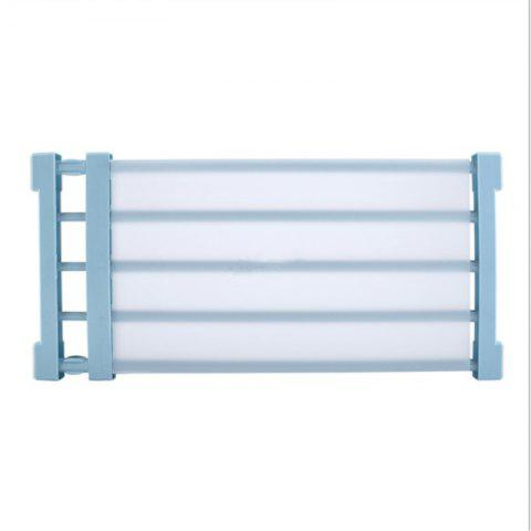 Nail-Free Retractable Storage Layered Widening Separator Shelf - LIGHT BLUE