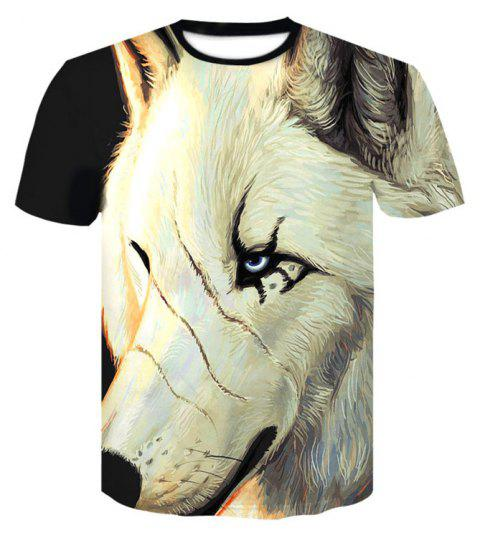 3D Loose Big Code Print Men's Casual Short Sleeve Graphic T-shirt - multicolor 3XL