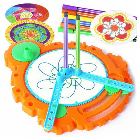 Creative Magic Flower Ruler Doodling Toy - multicolor A
