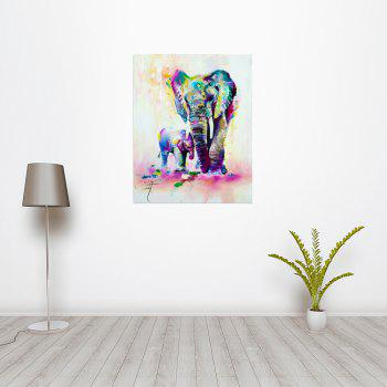 W361 Art Elephant Unframed Wall Canvas Prints for Home Decorations - multicolor A 20CM X 25CM