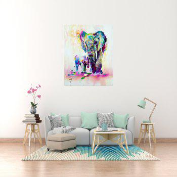 W361 Art Elephant Unframed Wall Canvas Prints for Home Decorations - multicolor A 60CM X 75CM
