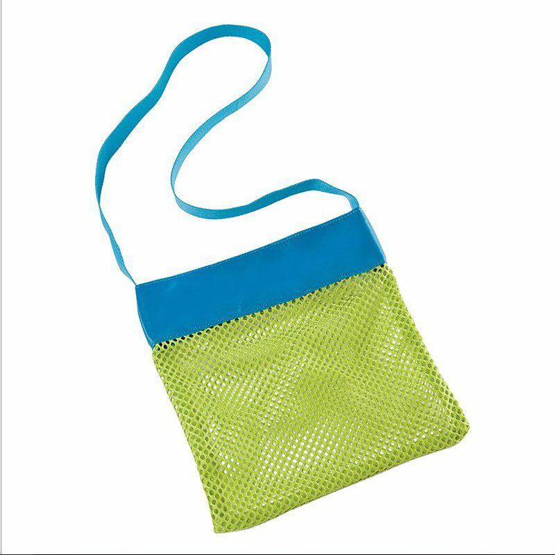 Beach Mesh Tote Receive Bag Toys Shell Children Toy - SKY BLUE