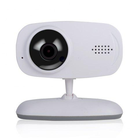 720P HD Wireless WIFI Camera Network Baby Care Support Voice Alarm Mobile Video - WHITE US