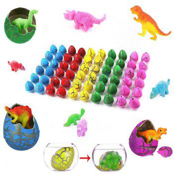 Novelty Hatching Dinosaur Toys Hatch and Grow Easter Egg 60PCS - multicolor
