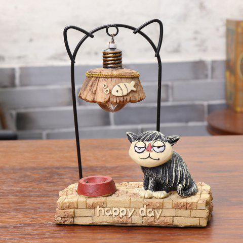 Meow Star People Resin Night Light Toy - multicolor A