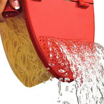 Perfect Pasta Cooker Heat Resistant PP Boat Microwave Steamer - RED