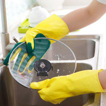 Emulsion Scrubbing Gloves Compound Sponge Cleaning Dishwashing - multicolor