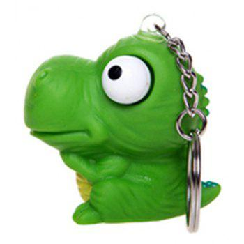 Raised Eyes Doll Anti Stress Ball Vent Animal Keychain Squeezing Toys - PINE GREEN