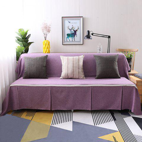 Pure Color Dust-Proof Cover for Armless Sofa - HELIOTROPE PURPLE ARMLESS SOFA COVER SIZE215*230CM