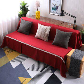 Pure Color Dust-Proof Cover for Armless Sofa - RED WINE ARMLESS SOFA COVER SIZE215*230CM