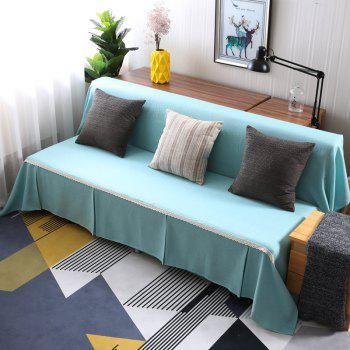 Pure Color Dust-Proof Cover for Armless Sofa - ROBIN EGG BLUE ARMLESS SOFA COVER SIZE215*230CM