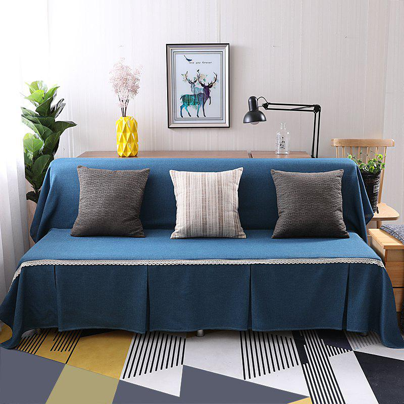 Pure Color Dust-Proof Cover for Armless Sofa - SAPPHIRE BLUE ARMLESS SOFA COVER SIZE215*230CM