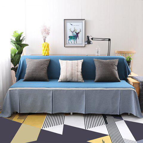 Fashionable Solid Color and Splicing Sofa Dustproof Cover - multicolor D ARMLESS SOFA COVER