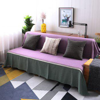 Fashionable Solid Color and Splicing Sofa Dustproof Cover - multicolor A ARMLESS SOFA COVER