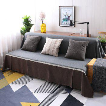 Fashionable Solid Color and Splicing Sofa Dustproof Cover - multicolor E ARMLESS SOFA COVER SIZE