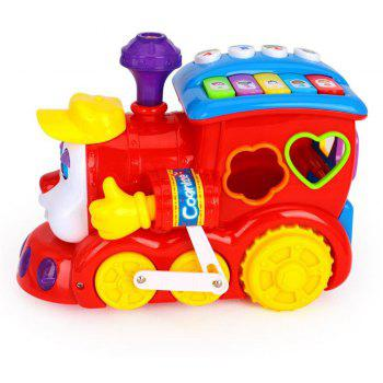 Early Education Baby Toys  with Music Light Block Language Learning for Children - multicolor