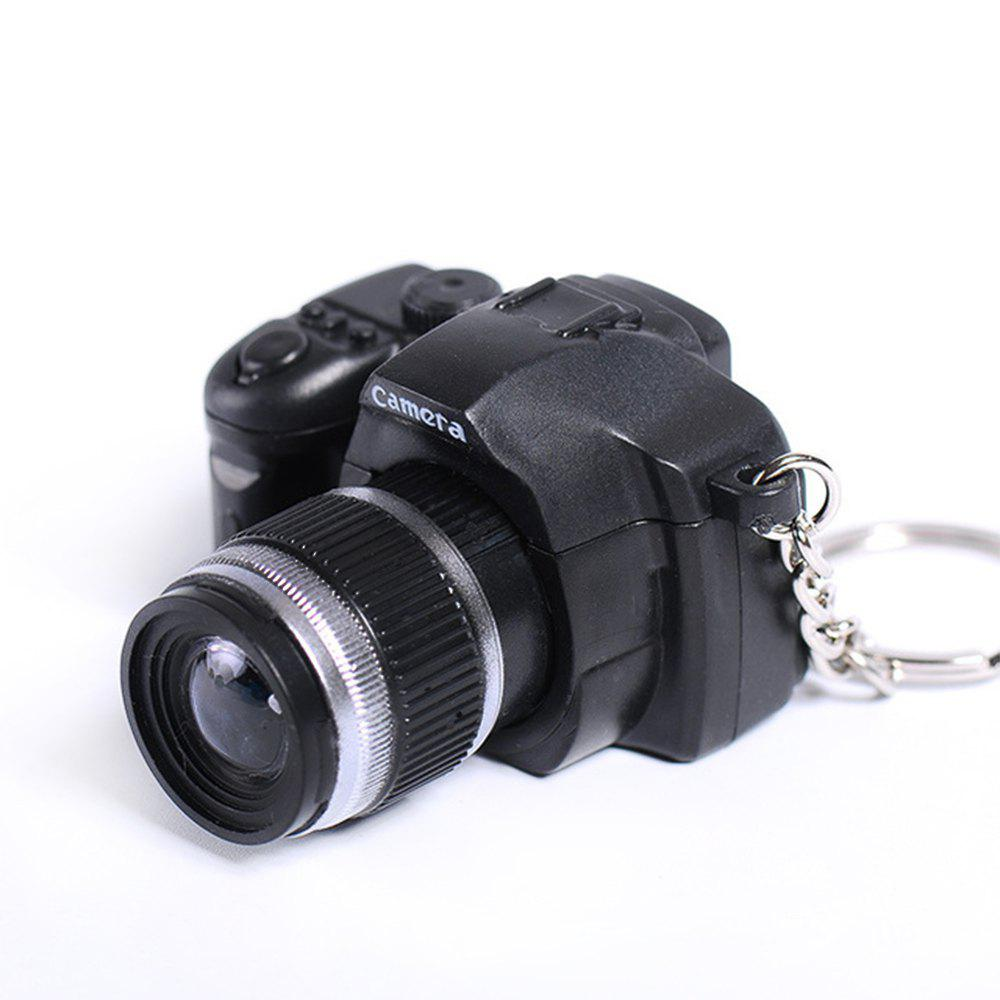 LED Keychain Camera Model with Sound - BLACK
