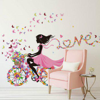 Butterfly Elf Flower Girl Arts Wall Sticker Bedrooms  Decor - multicolor