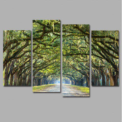 Oak Avenue Frameless Imprimé Toile Art Peintures 4PCS - multicolor A