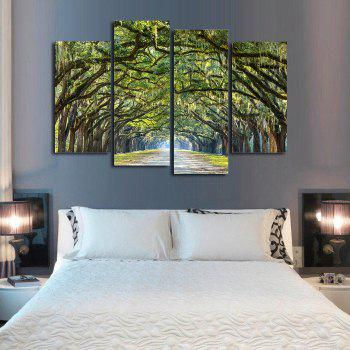 Oak Avenue Frameless Printed Canvas Art Paintings 4PCS - multicolor A