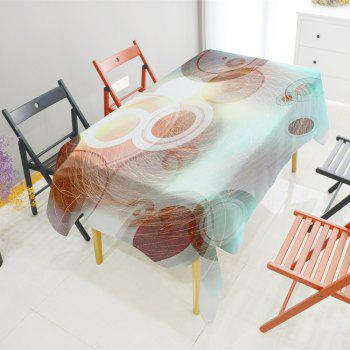 Line Ball Texture Digital Printing Waterproof Polyester Tablecloth - multicolor A 140CM*140CM