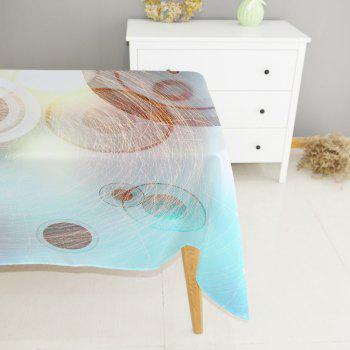 Line Ball Texture Digital Printing Waterproof Polyester Tablecloth - multicolor A 140CM*180CM