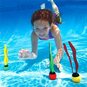 Swimming Pool Sea Plant Shape Practice Underwater Diving Training Toys 3pcs - multicolor A