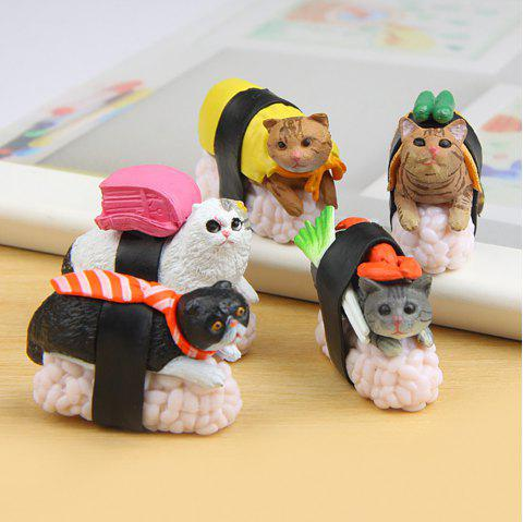 5pcs Creative Sushi Cat Hand Doing Landscape Doll - multicolor