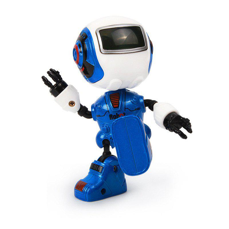 Cute Mini Multifunctional Induction Alloy Metal Sensing Light Music Robots - BLUE