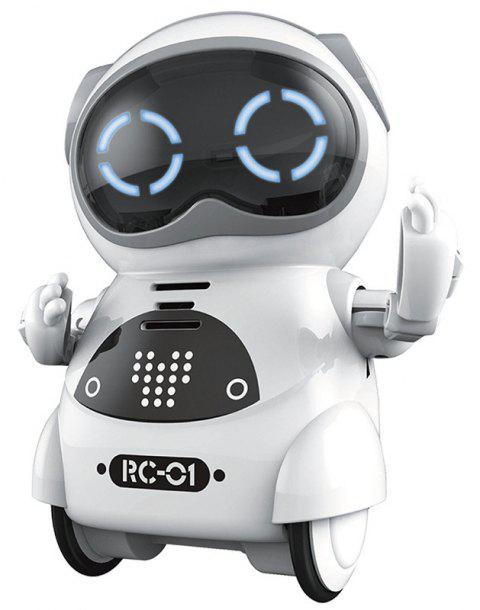 Educational Mini Pocket Robot for Kids with Interactive Dialogue - WHITE