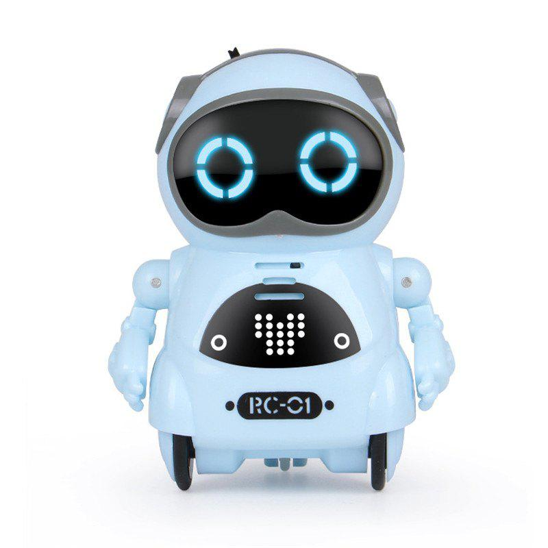 Educational Mini Pocket Robot for Kids with Interactive Dialogue - BABY BLUE