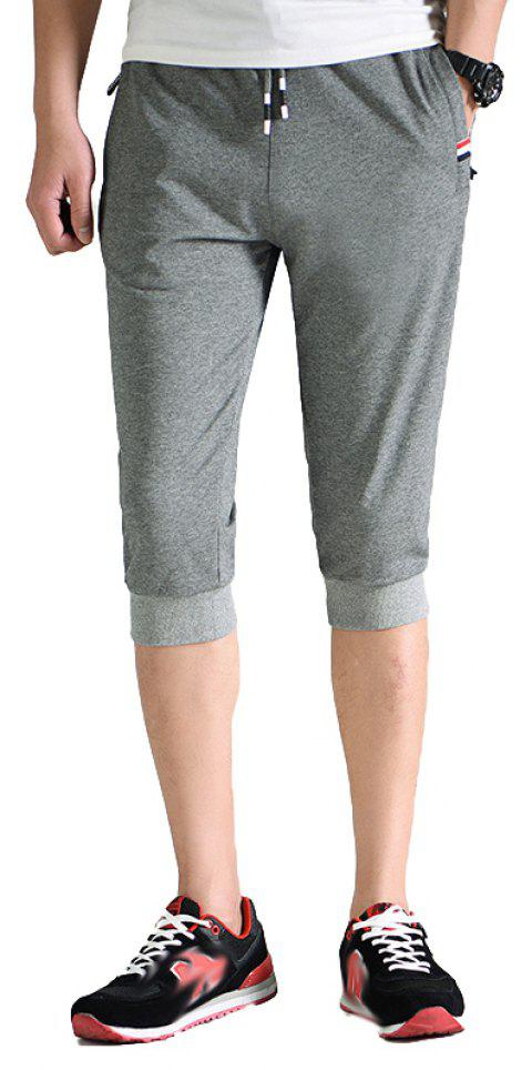 Men's Fashion Casual Sports Pants - DARK GRAY XL
