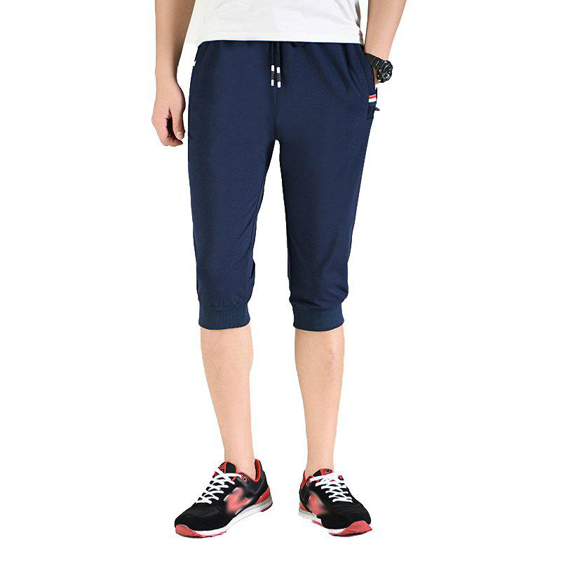 Men's Fashion Casual Sports Pants - DEEP BLUE XL
