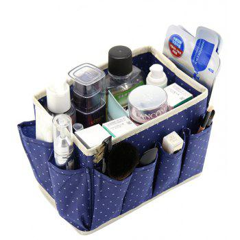 Non Woven Foldable Home Cosmetic Storage Box With 8 Pockets - CADETBLUE