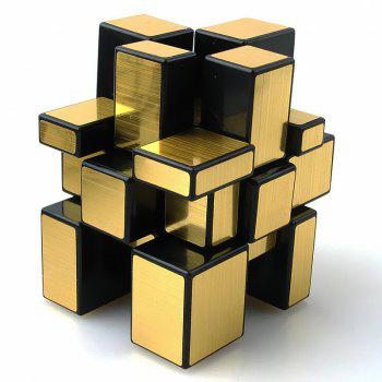 Speed Puzzle Gold and Silver Creative Irregular Mirror Magic Cube - GOLD